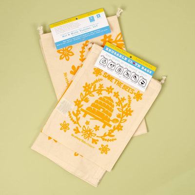 Bees Reusable Cloth Bag Set