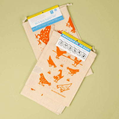 Chickens Reusable Cloth Bag Set