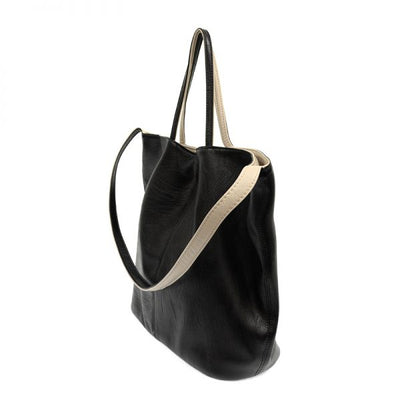 Joy Susan Riley Reversible Slouchy Hobo Handbag Black