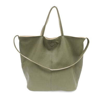 Joy Susan Riley Reversible Slouchy Hobo Handbag Sage