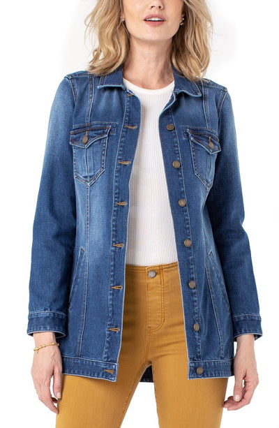 Liverpool High-Low Demin Jacket