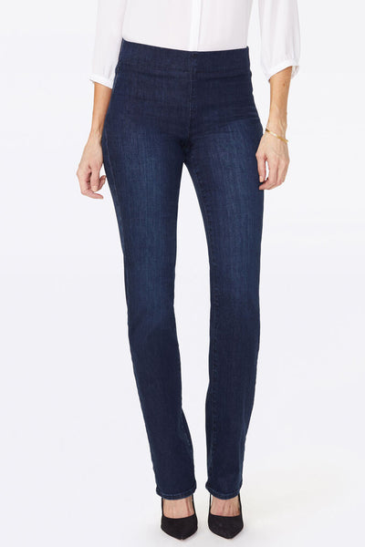NYDJ Marilyn Straight Clean Denslowe Pull On Jeans