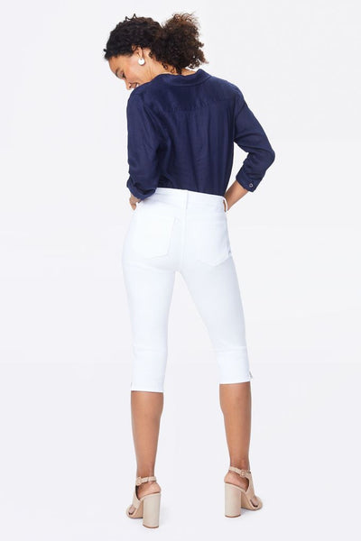 NYDJ White Skinny Carpi Denim Jeans
