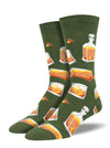 Sock Smith Rocks or Neat Whiskey Men's Crew Socks