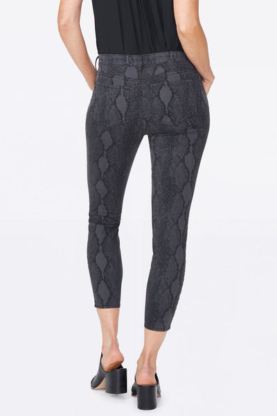 NYDJ AMI Skinny Snake Skin Grey Denim Pants
