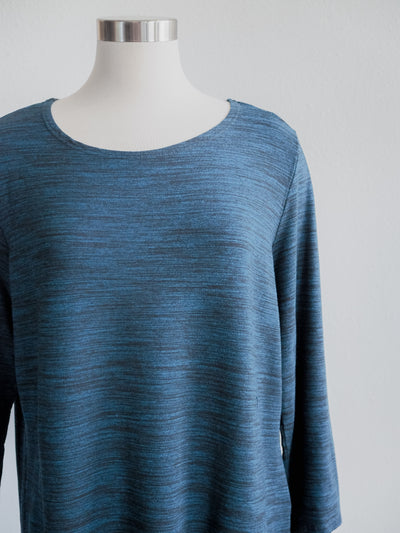 Cut Loose 3/4 Sleeved Boatneck Top, Deep Sea