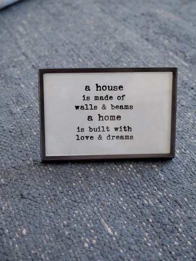 Sayings Metal and Glass Frame