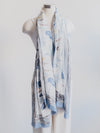 Blue Watercolor Scarf