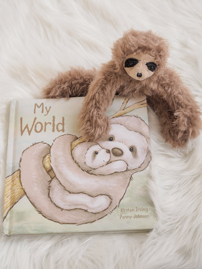 Jellycat My World Sloth Book