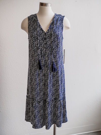 Tribal Navy Nautical Tassel Dress