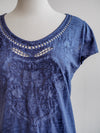 Tribal SweetHeart Nautical Blue Embroidered Tee