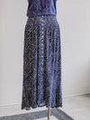Tribal Boho Blue Print Button Front Skirt