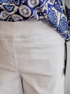 Tribal White Easy Pull On Bermuda Shorts