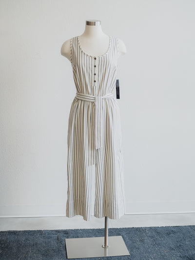 Tribal Stone Striped Henley Jumpsuit