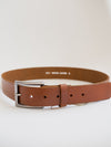 Basic Leather Belt-Tan
