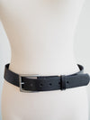 Basic Leather Belt-Black