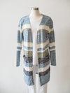 Tribal Hazy Blue Stripe Cardigan