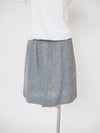 Cut Loose Crosshatch Overcast Grey Golf Skirt w/Pockets