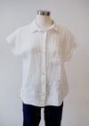 Cut Loose S/S Pocket Shirt Hanky Linen in White