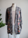 Johnny Was Caspian Grey Linen Kimono Top