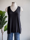 Liverpool Black Basic Sleeveless Tank Top