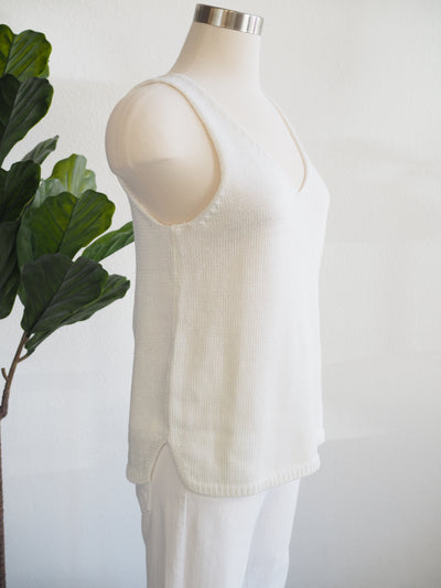 Tribal White Cami Sweater Top