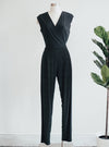 Last Tango Black Sleeveless Jumpsuit