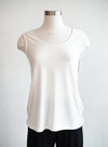 Last Tango Scoop Neck Ivory Tank W/ Binding Inside