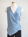 Last Tango Surplice Denim Tank W/ Side Gather