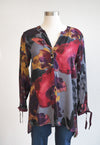 Habitat High Low Floral Autumn Top