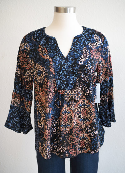 Tribal Blouse 3/4 Bell Sleeve