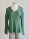 Wooden Ships Shirt Tail V-Neck Tunic-Shadle Green