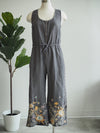 Johnny Was Voltage Elia Linen Tie Jumpsuit