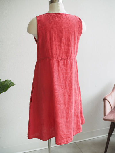 Cut Loose Hanky Linen Patch Dress