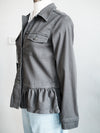 Liverpool Cargo Jacket W/ Peplum Hem-Dark Emerald Green