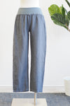 Cut Loose Roll Up Pant Solid Linen/Iron