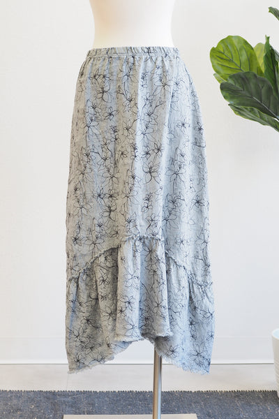 Cut Loose Clothing  Flounce Skirt-Graphic Overcast