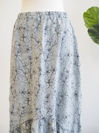 Cut Loose Flounce Floral Skirt-Graphic Overcast