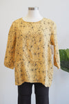 Cut Loose Pocket Pullover Floral Marigold Top