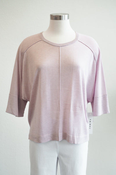 Tribal Clothing Lilac Dolman 3/4 Sleeve Sweater Blouse