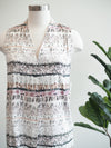 Tribal Clothing Lilac Print Sleeveless Blouse