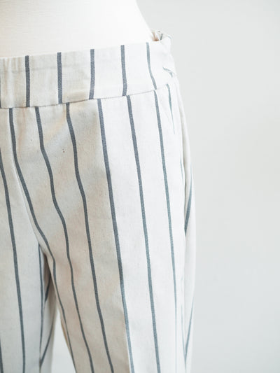 Tribal Pull On Striped Capri Pant W/Cuff