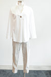 Tribal Clothing Pull On Striped Capri Pant W/Cuff