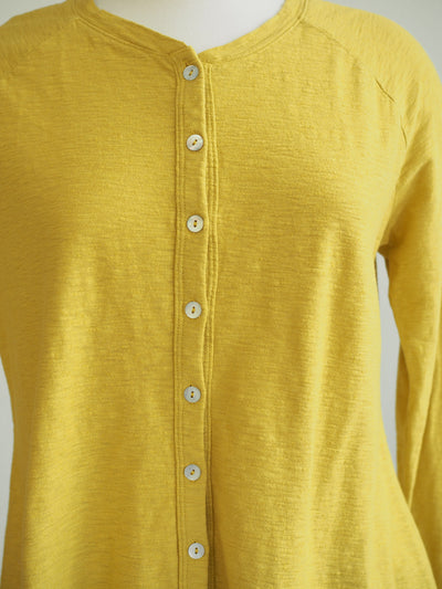 Cut Loose Parakeet Shell Button Cardigan Top