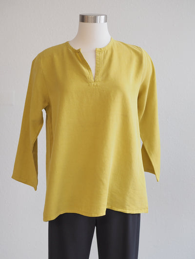 CutLoose Clothing Split Neck Tencel Top