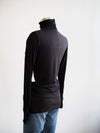 Tribal Black Ribbed Turtle Neck