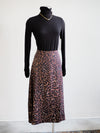 Tribal Leopard Print Midi Skirt