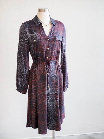Tribal Marine Print Shirt Dress