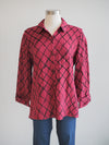 Habitat Clothing Checked Cabernet Shaped Shirt