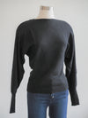 Apricot Batwing Black Sweater Top